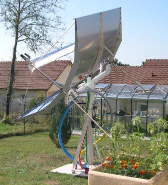 concentrateur cylindro parabolique solaire soleil levant