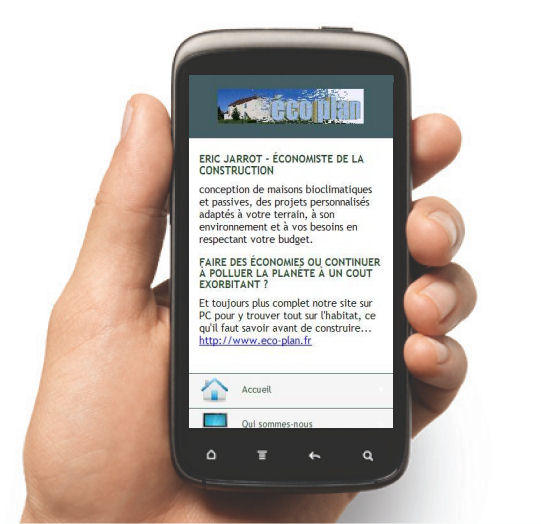 eco plan maison site mobile I-phone HTC